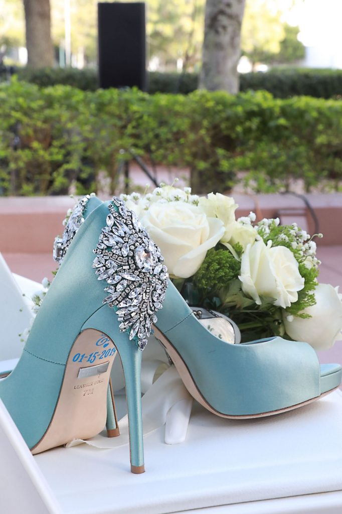 Something Blue Wedding Shoes - Just Marry Weddings - Chapman Photography