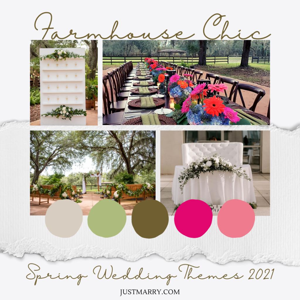 Spring Wedding Themes 2021 - Mood Boards (Farmhouse Chic)