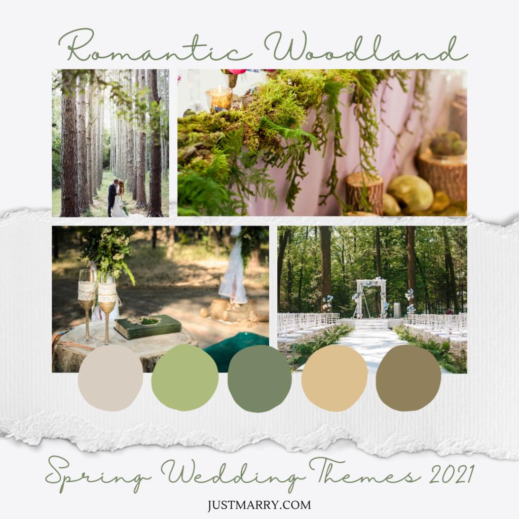 Spring Wedding Themes 2021 - Mood Boards (Romantic Woodland)