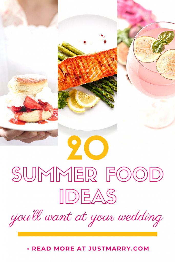 Summer Food Ideas - Just Marry Weddings