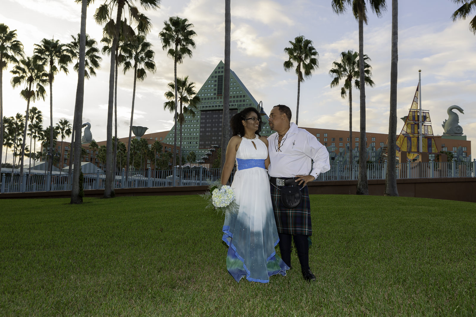 Swan and Dolphin Wedding in Orlando | Reccia and Leonard