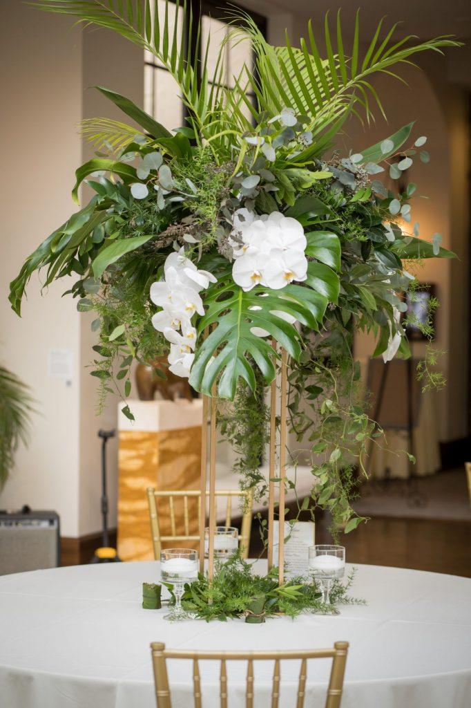Tropical Wedding - Just Marry Weddings - PB&J Studios - Centerpiece