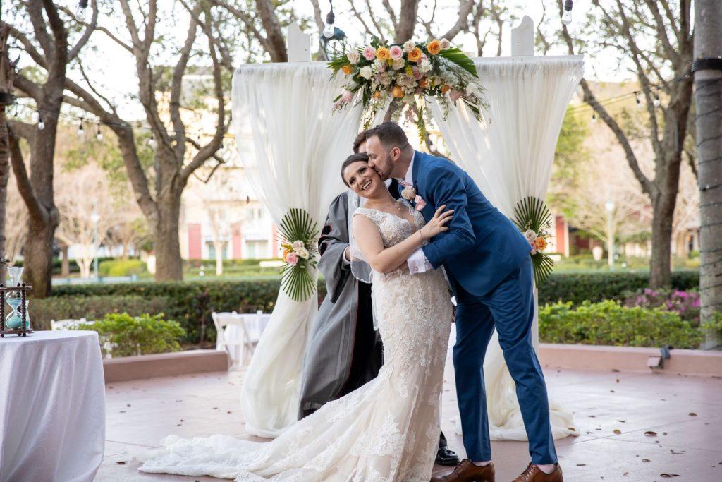 Tropical Wedding - Just Marry Weddings - PB&J Studios - Bride and Groom
