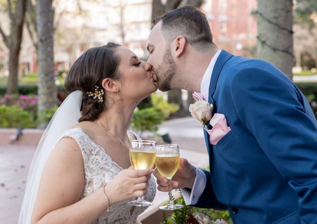 Tropical Wedding - Just Marry Weddings - PB&J Studios - Champagne Toast