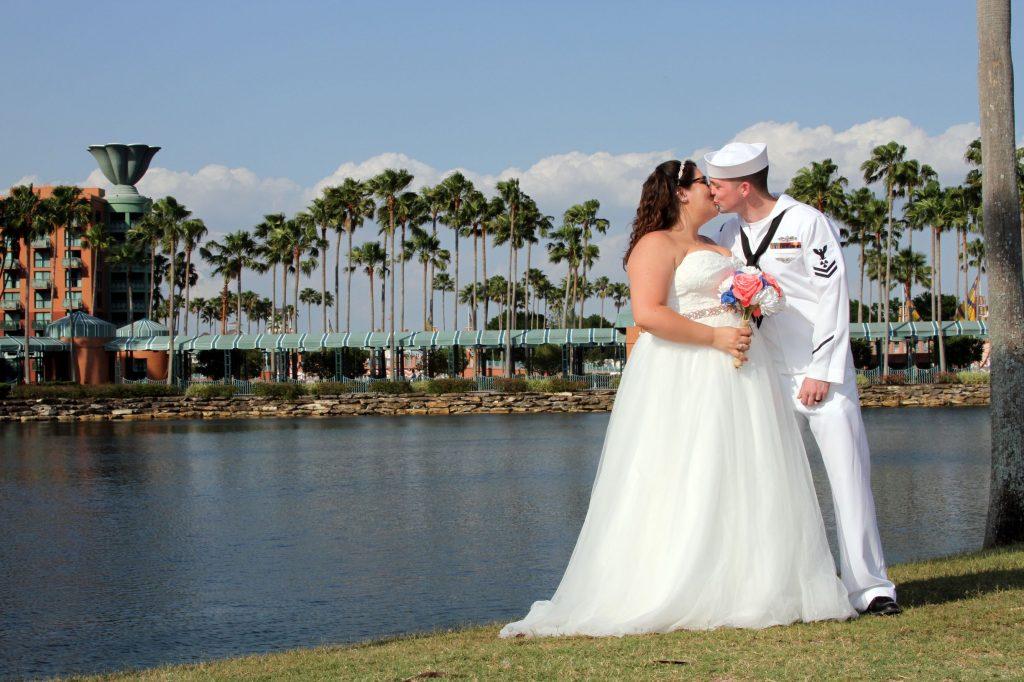 WDW Swan Wedding - Just Marry Weddings - Ginger Midgett Photography