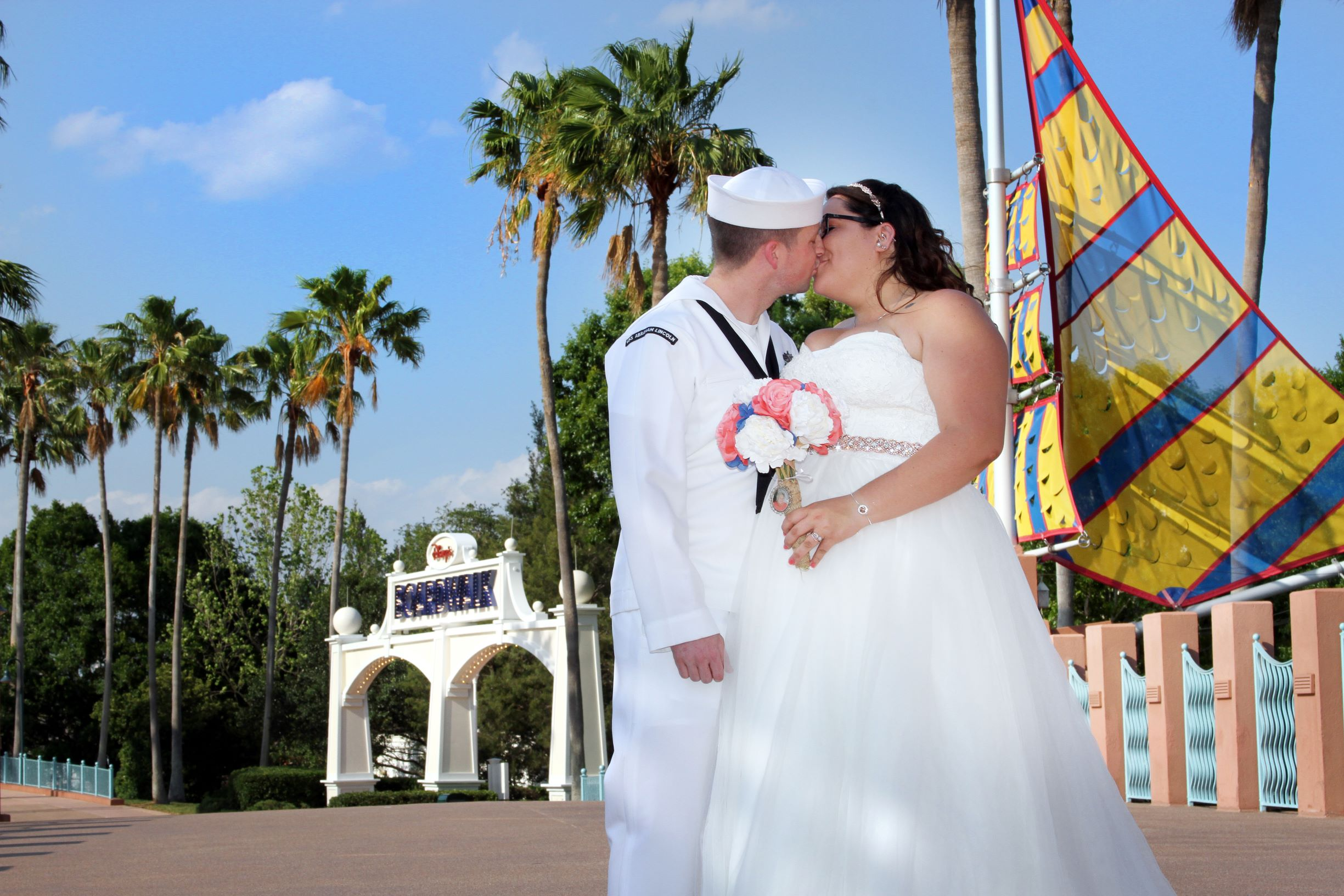 WDW Swan Wedding | The Real Wedding of Alexia and Michael