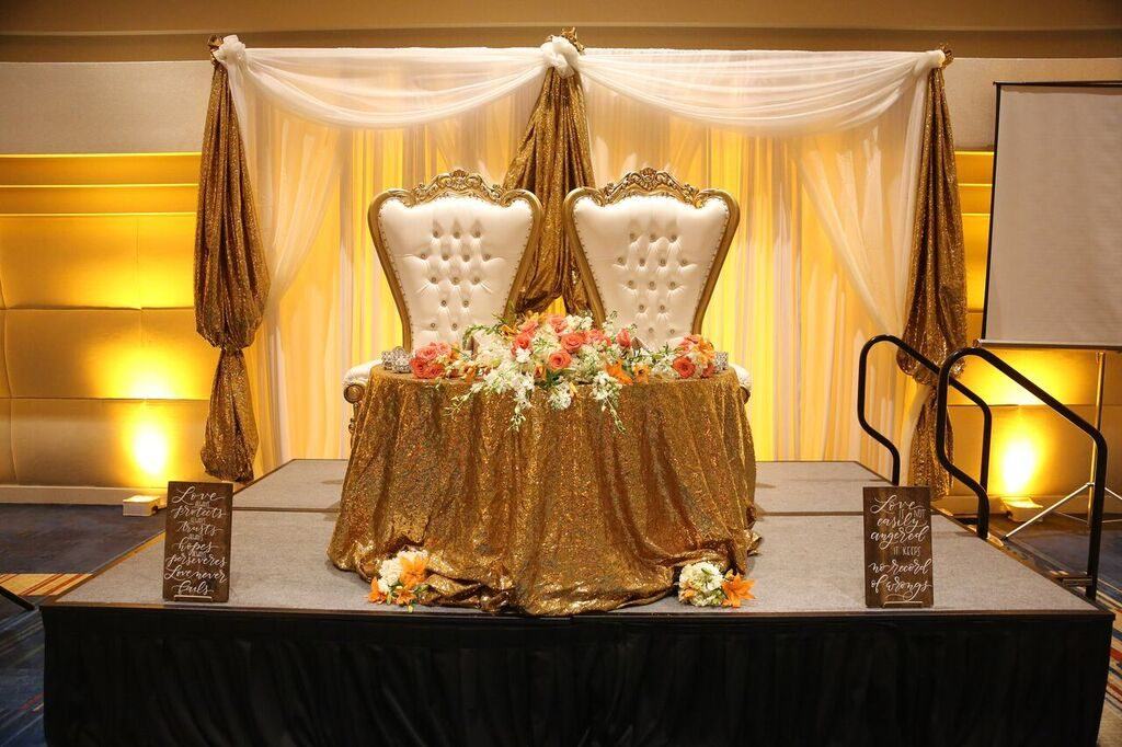 Wedding Color Scheme Lighting and Linens - Just Marry Weddings - Photography by Greg