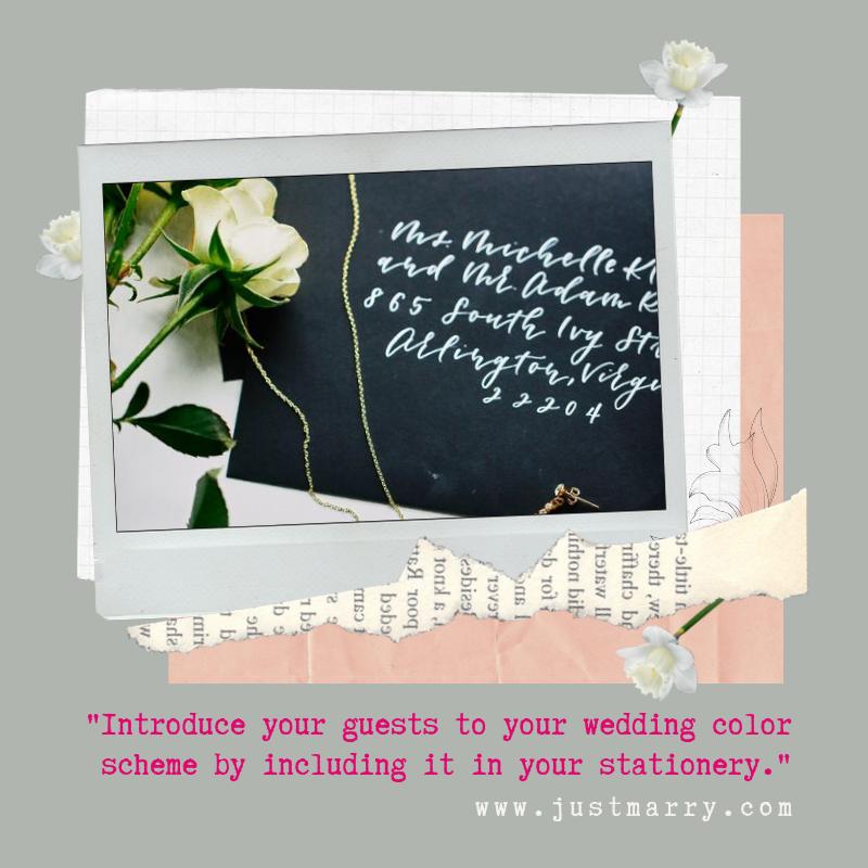 Wedding Color Scheme Quote - Just Marry Weddings