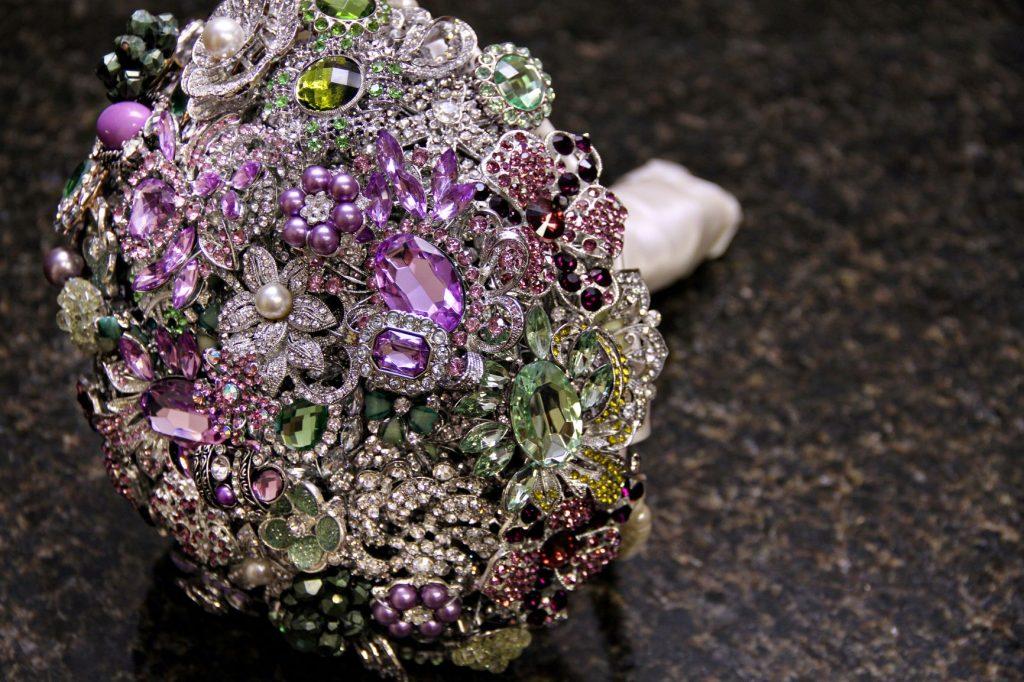 Wedding Flower Alternatives - Just Marry Weddings - Brooch Bouquet