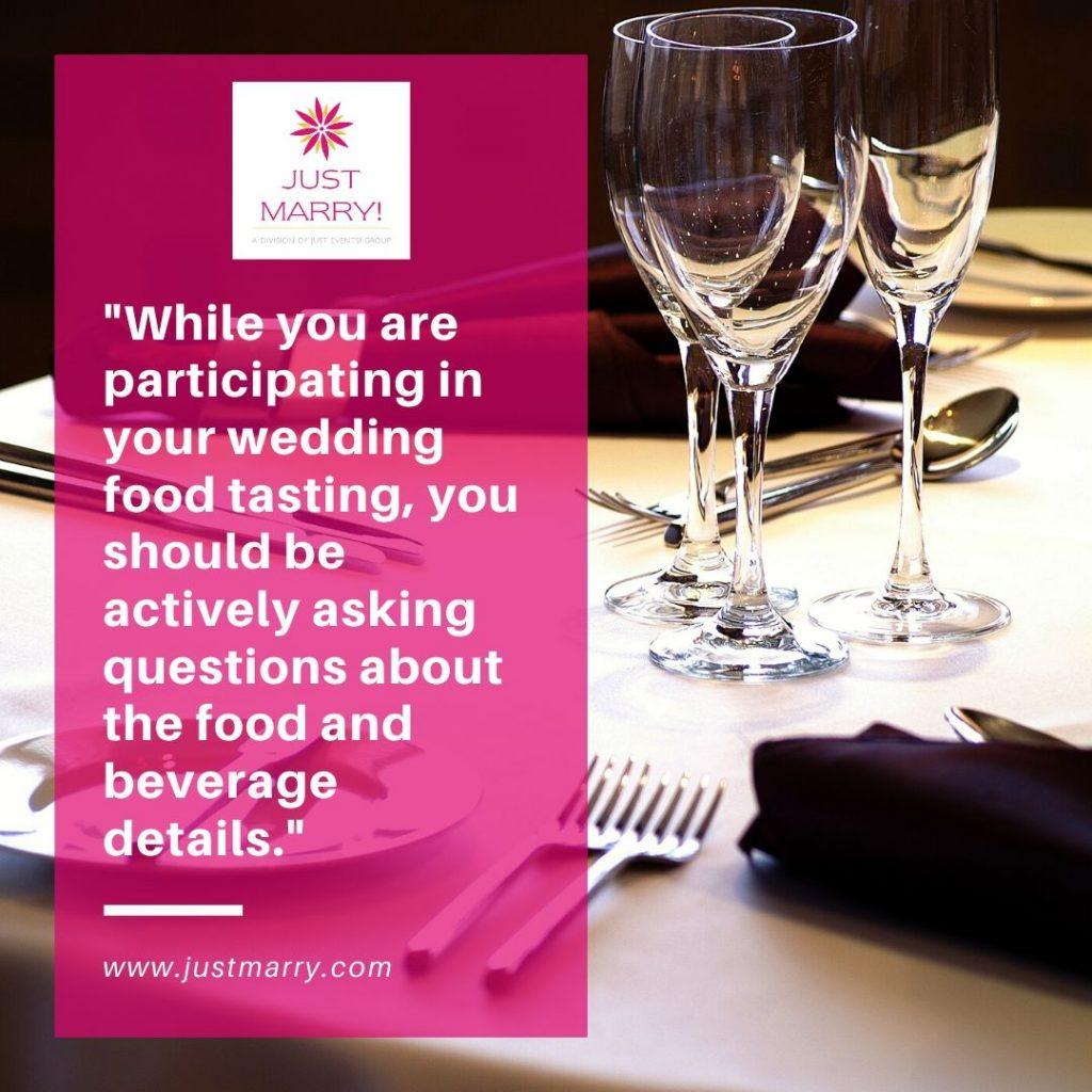 Wedding Food Tasting - Just Marry Weddings
