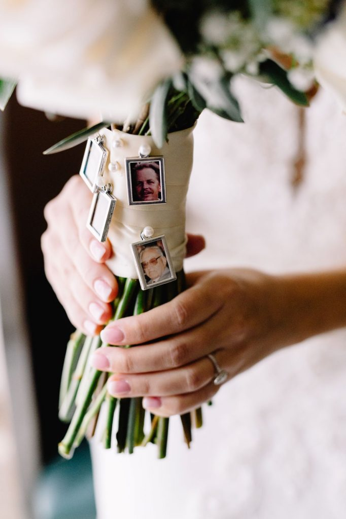 Wedding Memorial Ideas - Just Marry Weddings - JP Pratt Photography - Cameo attached to bouquet