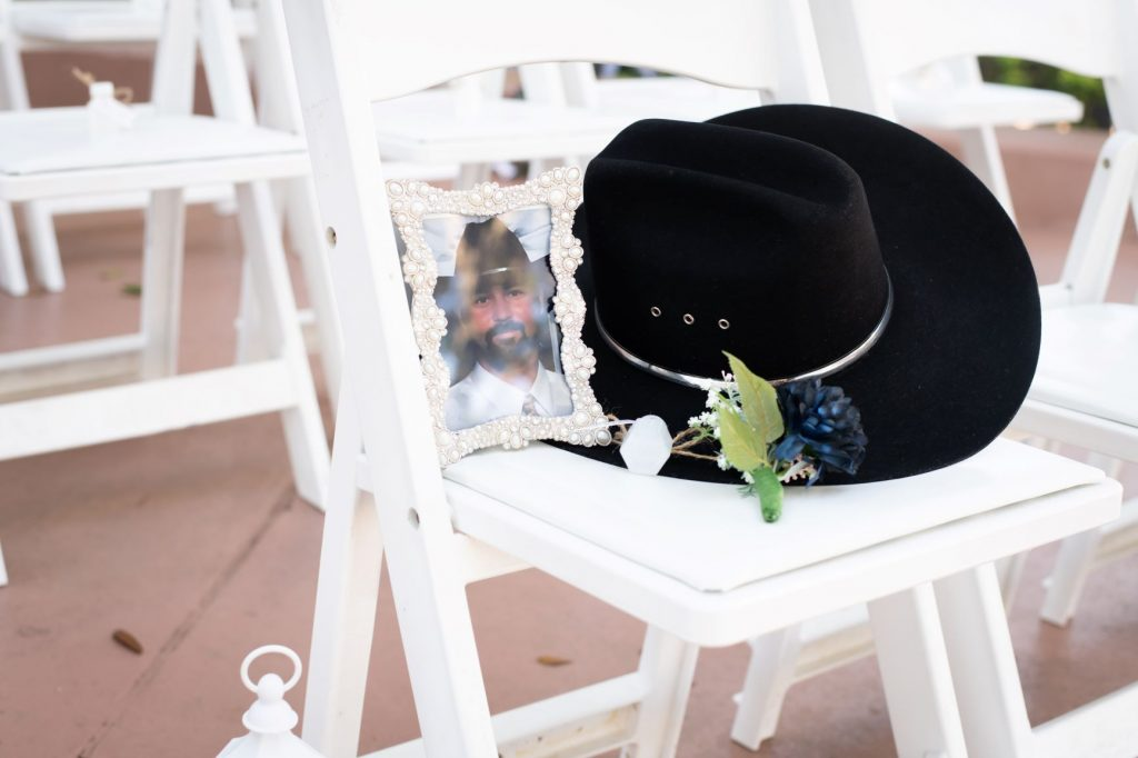 Wedding Memorial Ideas - Just Marry Weddings - Nova Imagery- Cowbot Hat and Photo