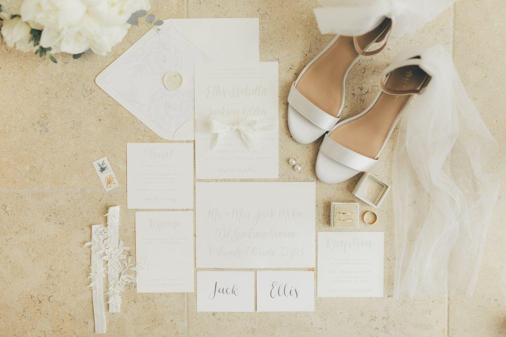 Wedding Stationery - Just Marry Weddings - Flat Lay (Ellis' Wedding)