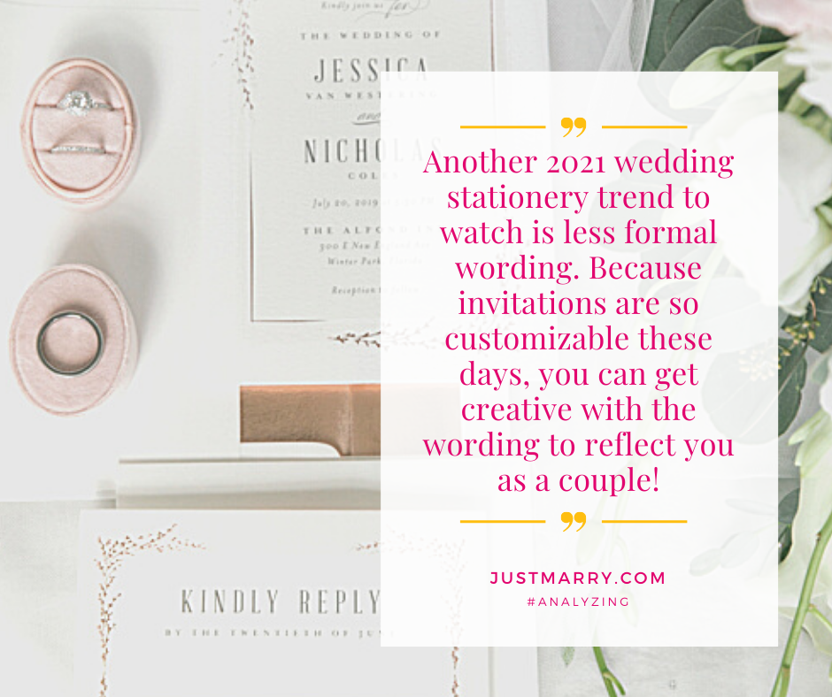 Wedding Stationery Trends - Just Marry Weddings