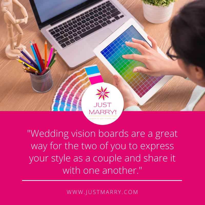 Wedding Vision Boards - Just Marry Weddings - Quote