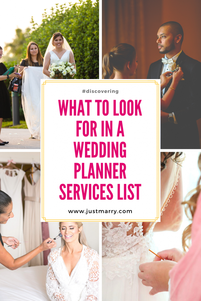 What to Look for in a Wedding Planner Services List - Just Marry Weddings