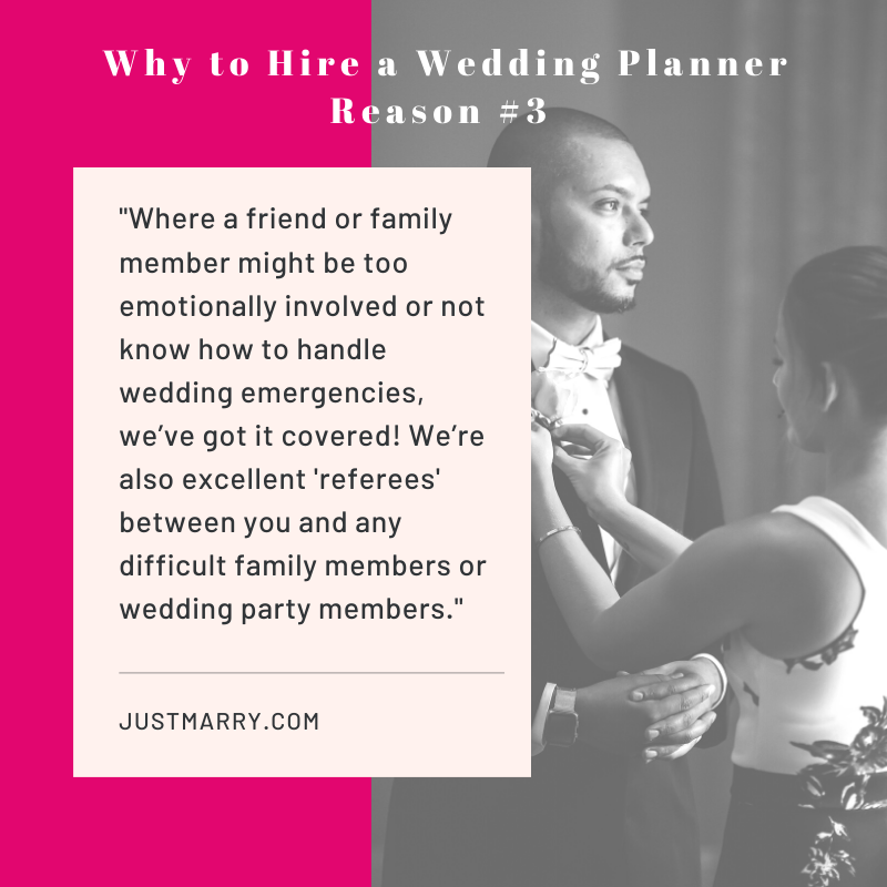 Why to hire a wedding planner quote - Just Marry Weddings