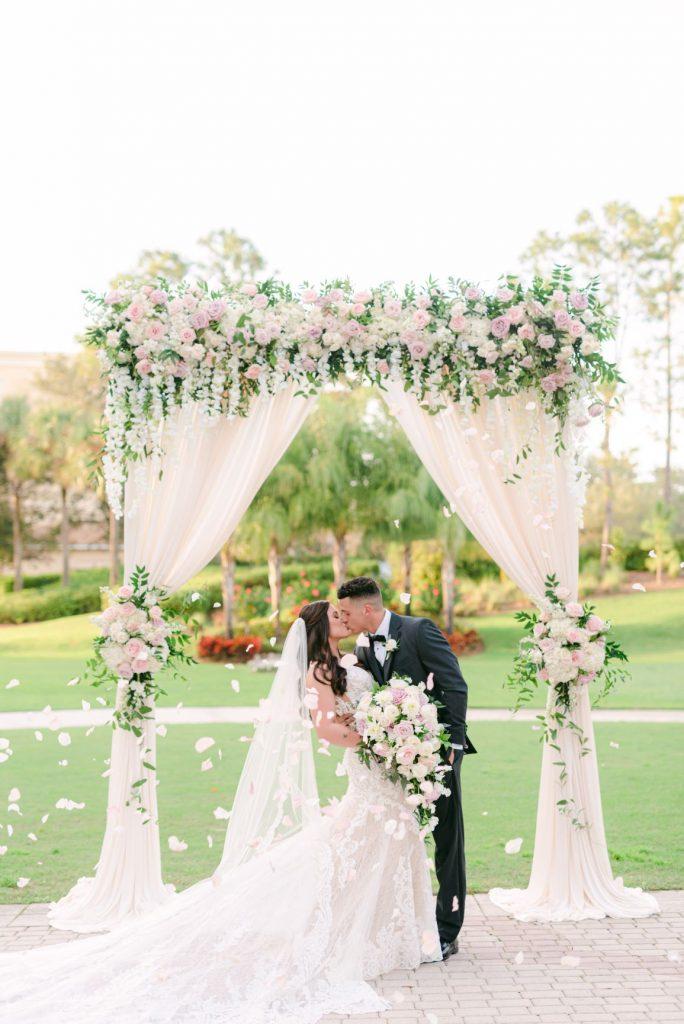 Winter Wedding - Just Marry Weddings - Ledia Tashi Photography - First Kiss